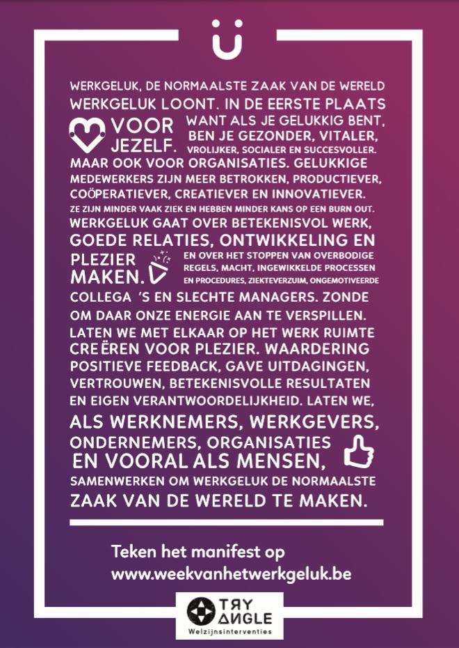 Werkgeluk Manifest