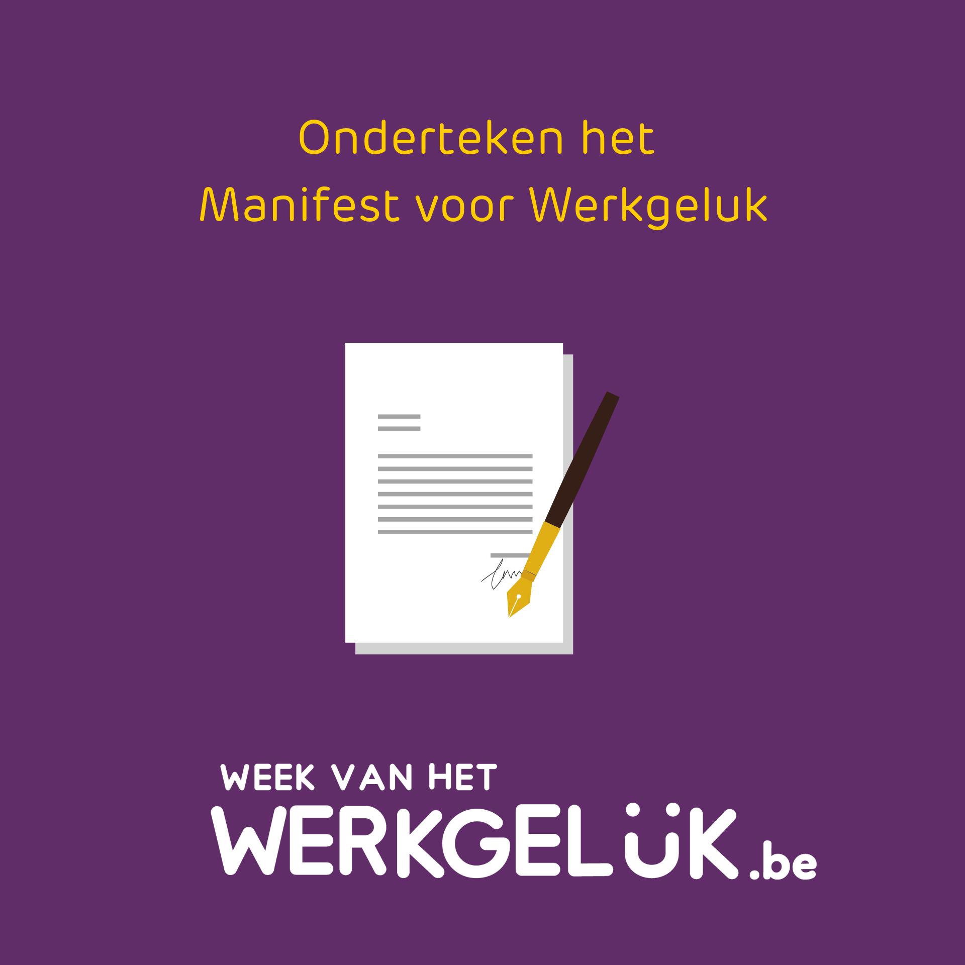 Onderteken het manifest voor werkgeluk