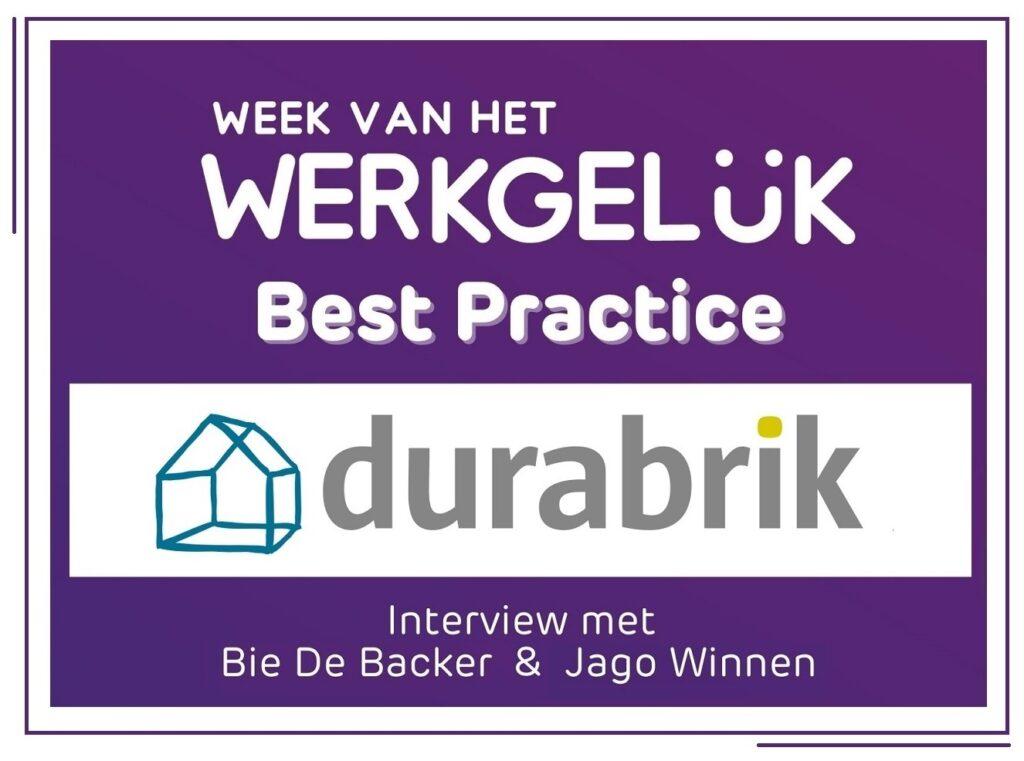 Durabrik Happiness at Work Best Practice
